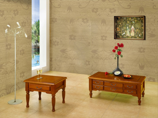 Balmoral Traditional Reproduction Style Coffee And Side Table Set Yew