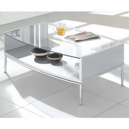 Metro Glass Coffee Table Silver
