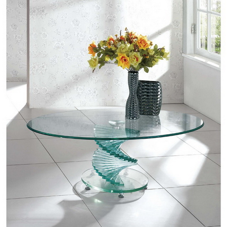 Swirl Glass Coffee Table