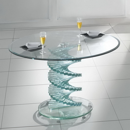 Swirl Glass Dining Table Only