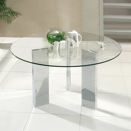 tetris round glass dining table only small 105cm size