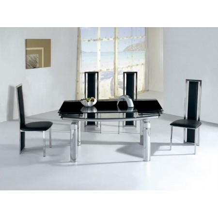Extending Glass Dining Table 6 X D231 Chairs Set