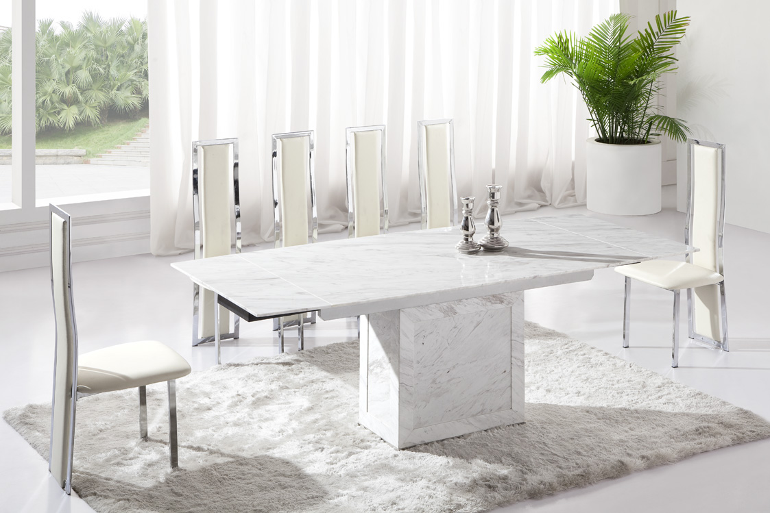 Design Collection Marble Dining Room Tables And Chairs 46 New Inspiration