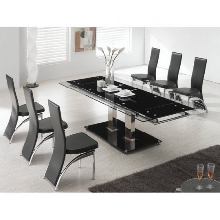 Nitro Ex Large Extending Dining Table 8 D212 Chairs