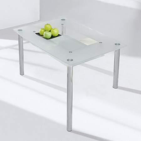 Dining table dining table frosted glass Glass dining table