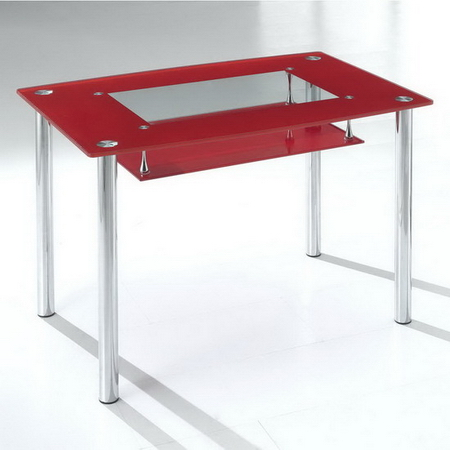 Small Compact Glass Dining Table Only Black Frosted Or Red
