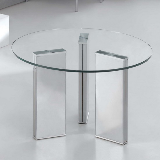 Glass Coffee Table Tetris Round Transparent Fu Nicha Genuine Brand