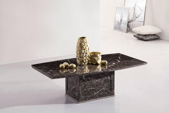 ZEUS BROWN GREY MARBLE COFFEE TABLE
