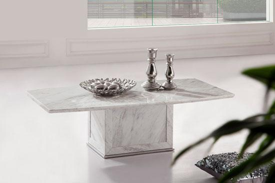 Zeus White Grey Marble Coffee Table