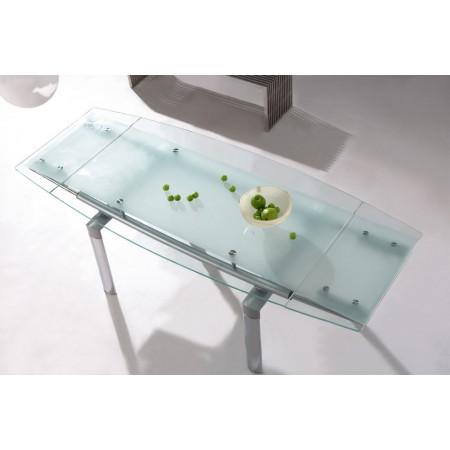 extending glass dining table mega. Black Bedroom Furniture Sets. Home Design Ideas