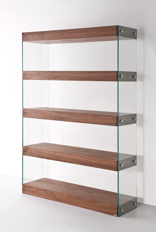 Ultimo Walnut Contemporary Floating Shelf Bookshelf Wall