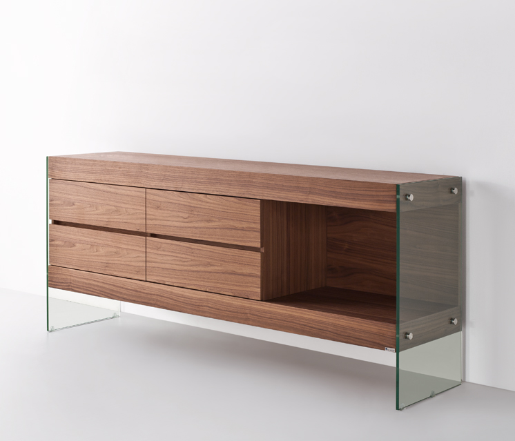 ULTIMO Walnut ultra contemporary sideboard wall cabinet : ultimasideboardwalnut2 from www.glasstablesandchairs.com size 746 x 639 jpeg 193kB