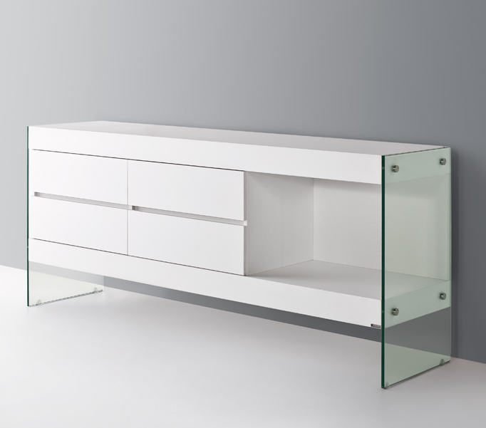 ULTIMO White ultra contemporary sideboard wall cabinet : ultimasideboardwhite2 from www.glasstablesandchairs.com size 682 x 601 jpeg 129kB
