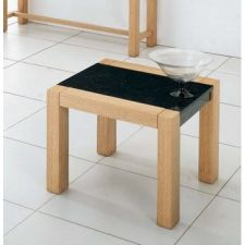 Colorado - Oak and Marble Effect End Table