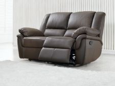 Leather Recliner Sofa 2 Suite Elan Brown