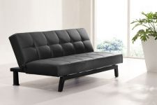 Faux Leather Sofabed Mariano 3 seater Black