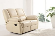 Leather Recliner Sofa 2 Suite Elan Cream