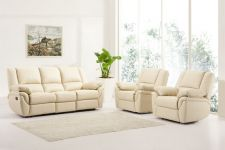 Leather Recliner Sofa 311 Suite Elan Cream