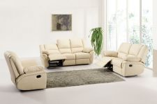 Leather Recliner Sofa 321 Suite Elan Cream