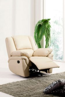 Leather Recliner Sofa Elan Cream