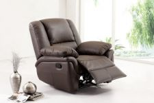 Leather Recliner Sofa Elan Brown