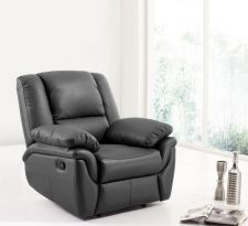 Leather Recliner Sofa Elan Black