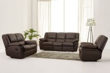 Leather Recliner Sofa 321 Suite Elan Brown