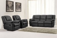 Leather Recliner Sofa 311 Suite Elan Black