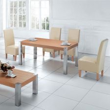 Wood dining set Apollo Oak with 6 Helen chairs