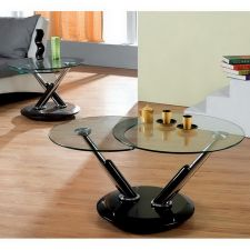 Twist - Glass Coffee Table Black