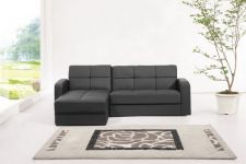 Florida Faux Leather Storage Sofabed Black