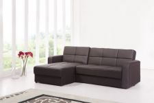 Florida Faux Leather Storage Sofabed Brown