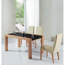Colorado - Oak and Marble effect Dining Table with 6 B19 Chairs