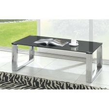 Black Glass Coffee Table Molten