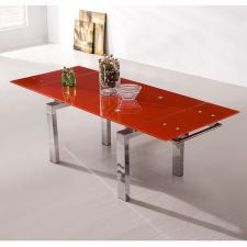 Extending Red Glass dining table Maxi
