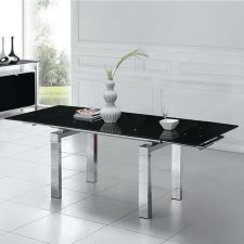 Extending Black Glass dining table Maxi
