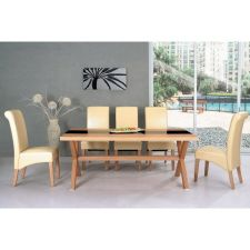 Harvard - Oak Black Table 6 x B01 chairs