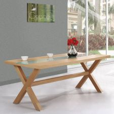 Harvard - Oak Frosted Table 6 x B01 chairs