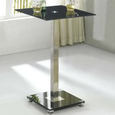 Glass bar table Ice Black