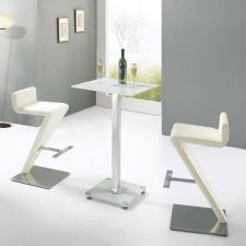 Glass Bar Table Ice with 2 BR-216 Stools
