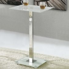 Glass bar table Ice White FU-NICHA Genuine Brand