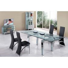 Extending Glass Dining Table Maxi + 6 x D212 chairs set