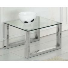 Glass End, side or lamp Table Molten