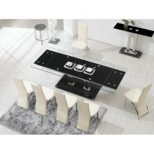 Nitro - Ex Large 2.4m Extending Dining Table + 8 D212 chairs
