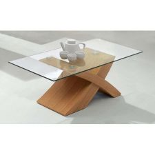 New X - Wood Oak Coffee Table
