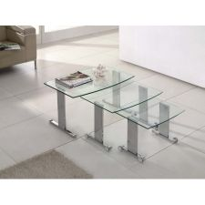 Scala - Transparent Glass Nest of Tables