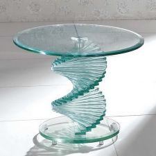Swirl - Glass Side Table