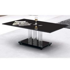 Trilogy - Black Glass Coffee Table