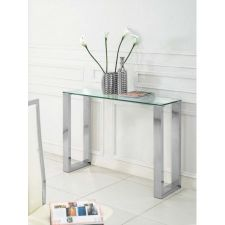 Glass Console Table Molten