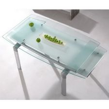 Extending Glass Dining Table Mega Frosted